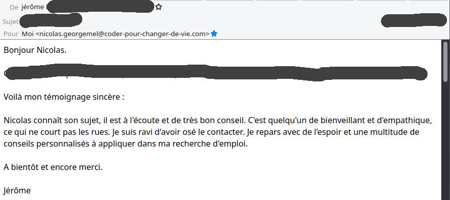 Témoignage Jérôme B